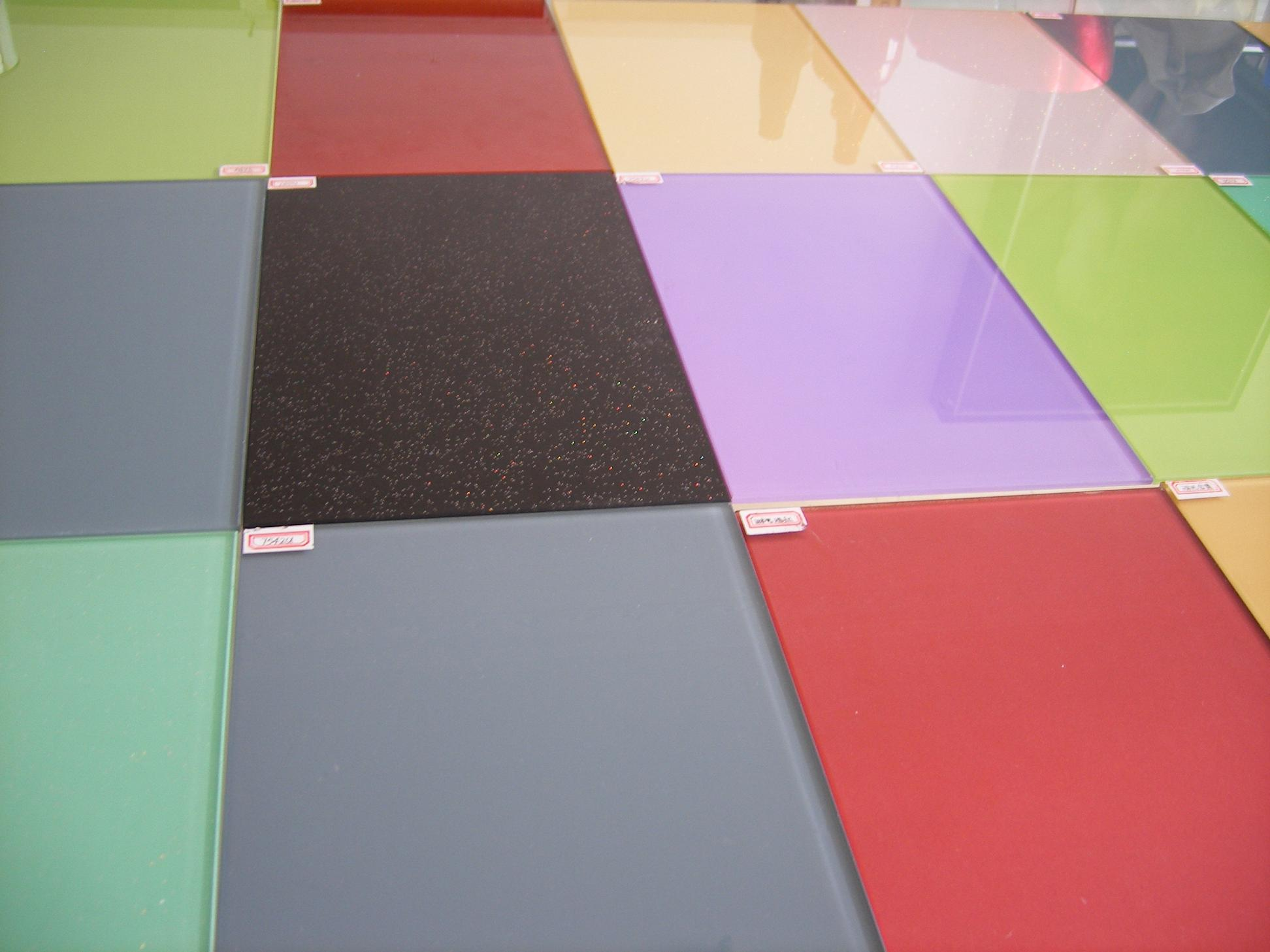 Coloured Glass Table Tops